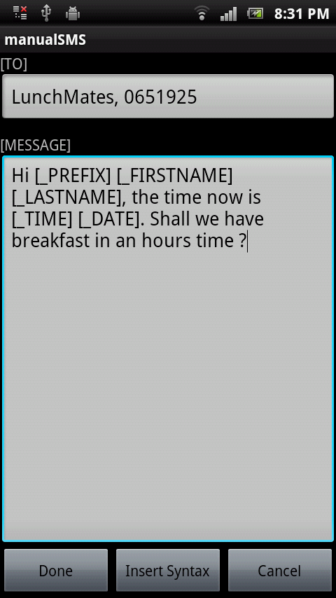 Email2SMS Mobile Application - Bricatta